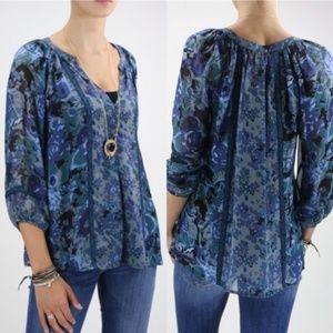 Joie Gloria Peasant silk blouse